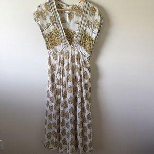 Free People V-Neck Empire Waist Dress Small